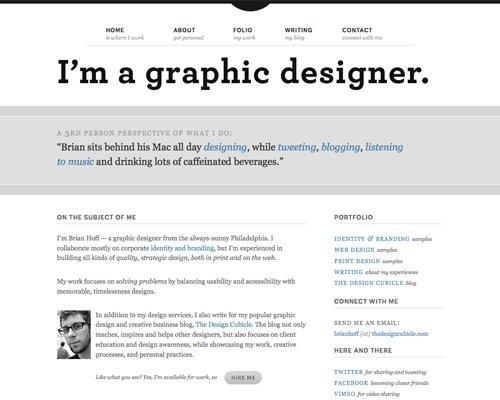 极简主义 页面设计