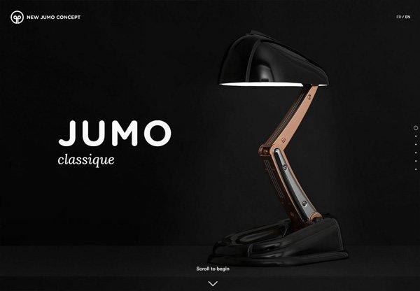 Dark web design example: JUMO Classique